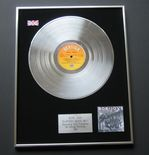 BON JOVI - Slippery When Wet PLATINUM LP PRESENTATION Disc